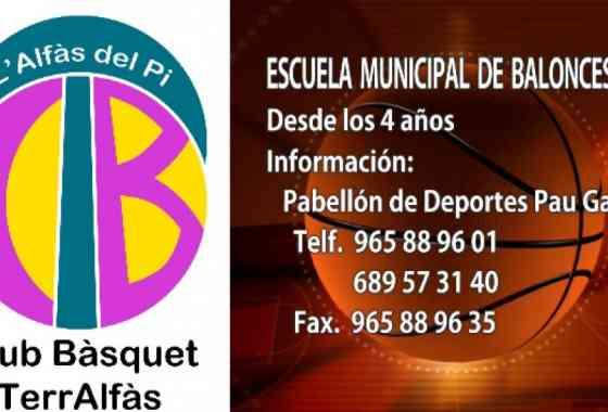 Apúntate, Escuela Municipal de Baloncesto. L´Alfàs del Pi